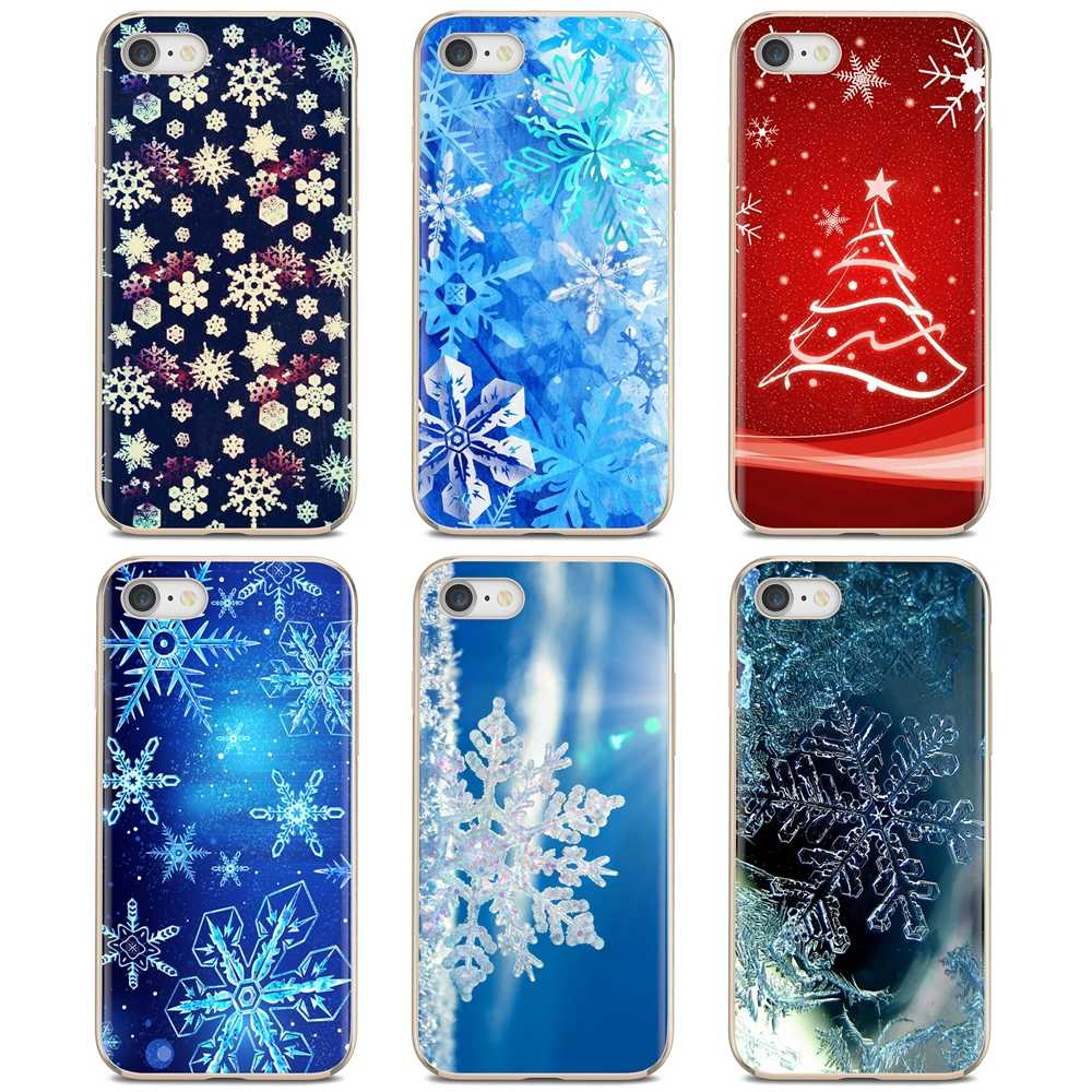 Slim Silicone Soft TPU Phone Case For Huawei Honor Y5 2018 2019 8S 9X Pro 20 10 10i Lite new year snowflake Brand Christmas