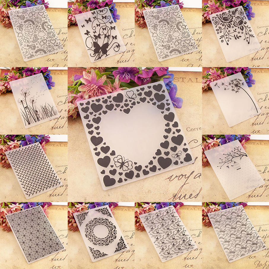 Plastic Template Craft Card Making Tools Paper Cards Photo Album Wedding Decoration Scrapbooking Embossing Folder