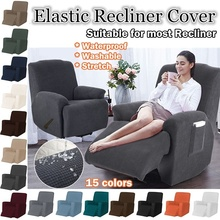 All inclusive High Stretch Recliner Chair Covers Waterproof Anti skid Couch Slipcover Washable Furniture Protector 15
