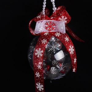 Image 4 - Lucia artesanato 5 quintal 10mm/25mm floco de neve organza fita diy bowknot presente embrulho para o natal decorp0303