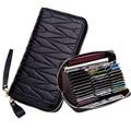 Кошелек RFID из натуральной кожи для женщин  женский дорожный кошелек на молнии  Женский кошелек с 36 отделениями для карт  женский кошелек