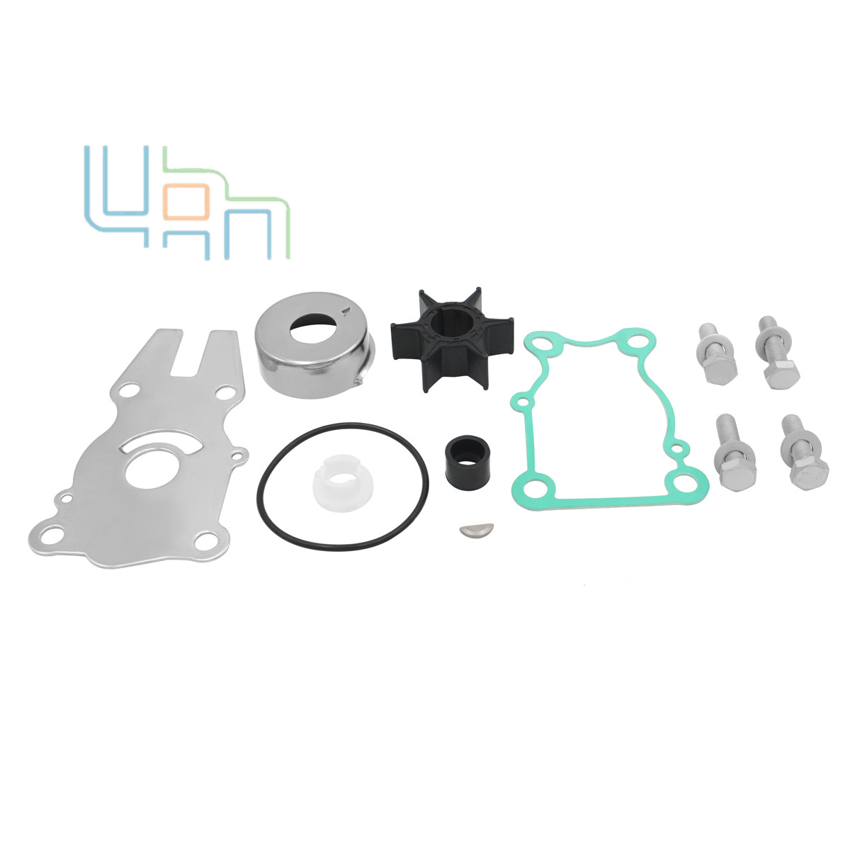 Water Pump Impeller Repair Kit For Yamaha F40/F50/F60hp Outboard 63D-W0078-01-00