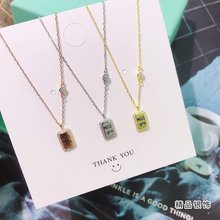 Exquisite Jewelry Whole 100% Real 925 Sterling Silver Miss You Obelisk Pendant Necklaces Lasting Shine Cross Chain with Zirconia exquisite real 925 sterling silver charming bee pendant necklaces lasting shine cross chain and zirconia good looking daisy