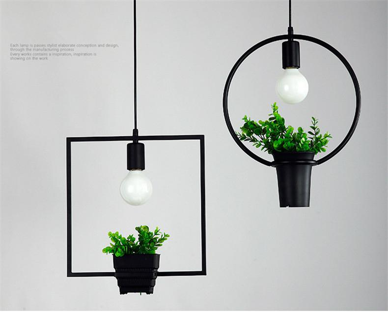 SOLLED LED Industrial Antique Wrought Iron Plant Pendant Light For Kitchen Restaurant Hotel Ceiling Lamp