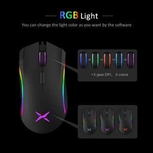 Image 4 - Delux M625 Verdrahtete 7D Gaming Mouse Ergonomische PMW3360 12000 dpi RGB Backlit PC Computer Gamer Mäuse Mit Handgelenk Rest Maus pad Kit