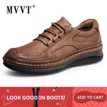 MVVT Winter Retro Men Boots Top Quality Genuine Leather Boots Men Winter Ankle Boots Fashion Platform Men Shoes - DISCOUNT ITEM  50% OFF All Category