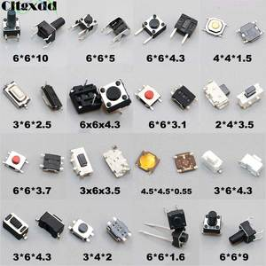 Cltgxdd 10PCS Tactile Push Button Switch Car Remote Control Keys Button Touch Micro Switch Momentary SMD DIP 2*4 3*6 4*4 6*6