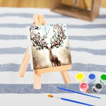 Stationery Painting Art-Supplies Acrylic-Paint Artist Kids Blank Mini Easel Gifts Canvas