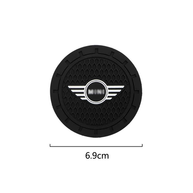 YYBF Auto Cup Holder Non-slip Mat Interior Decoration Car Styling Accessories For MINI Cooper Clubman R55 R56 R57 R58 R59 F54 1//2PCS,1PCS