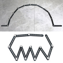 Règle de mesure multi-angle, outil de gabarit de recherche d'angle en alliage à 12 côtés, règle pliante, outils de positionnement d'angle en bois, brique, carrelage