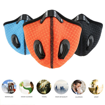 fast shipping Sport Face Mask With Activated Carbon Filter PM 2.5 Anti Pollution Mask Training Running Anti-dust Cycling Mask