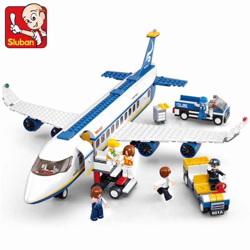 463 pièces ville aéroport Airbus Avion Avion LegoINGs Avion technique blocs de construction briques jouets éducatifs pour les enfants
