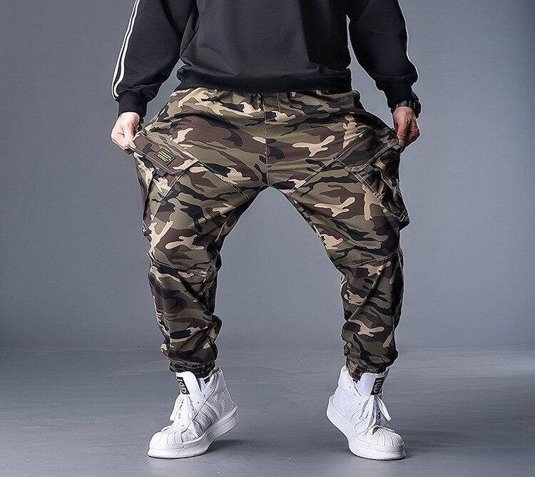 Plus 7XL 6XL 5XL Military Camo Pants Men Loose Cotton Army Trousers Casual Hip Hop Cargo Camouflage Pants Men Pantalon Camuflaje
