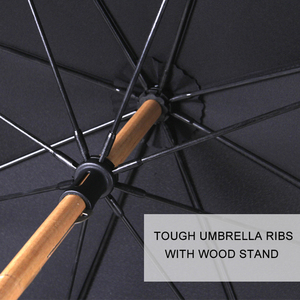 Image 4 - حار بيع الخيزران الروطان طويلة مظلة الرجال الرجعية مقبض منحني كبيرة المطر مظلة قوي Glassfiber 8K يندبروف مكافحة الأشعة فوق البنفسجية المظلة