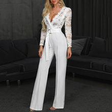 Women Soild Button Short Sleeve Long Rompers Jumpsuit Playsuit Female Bodycon Playsuit Long Solid Trousers Party Beach clothes(China)