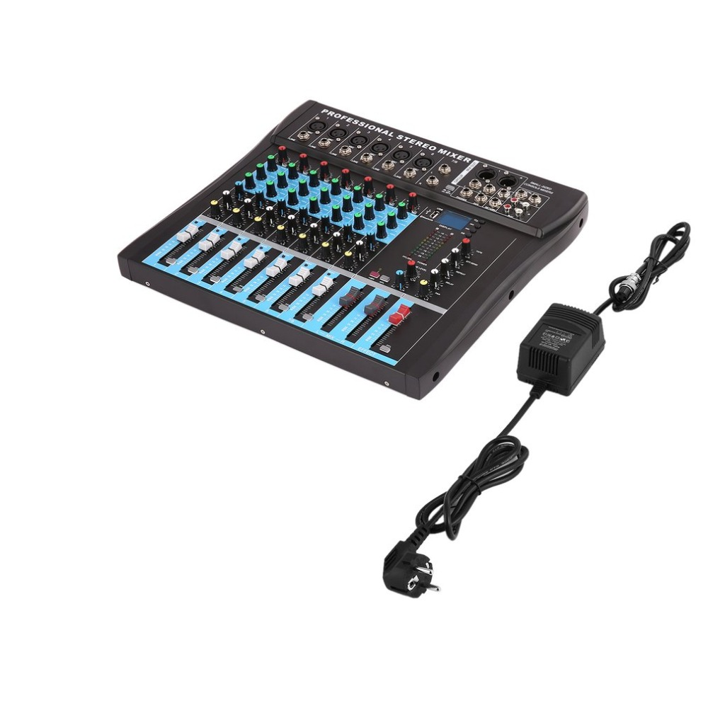 CT8 8 Channel Professional Stereo Mixer Live USB Studio Audio Sound Console Network Anchor Device Vocal Effect Processor