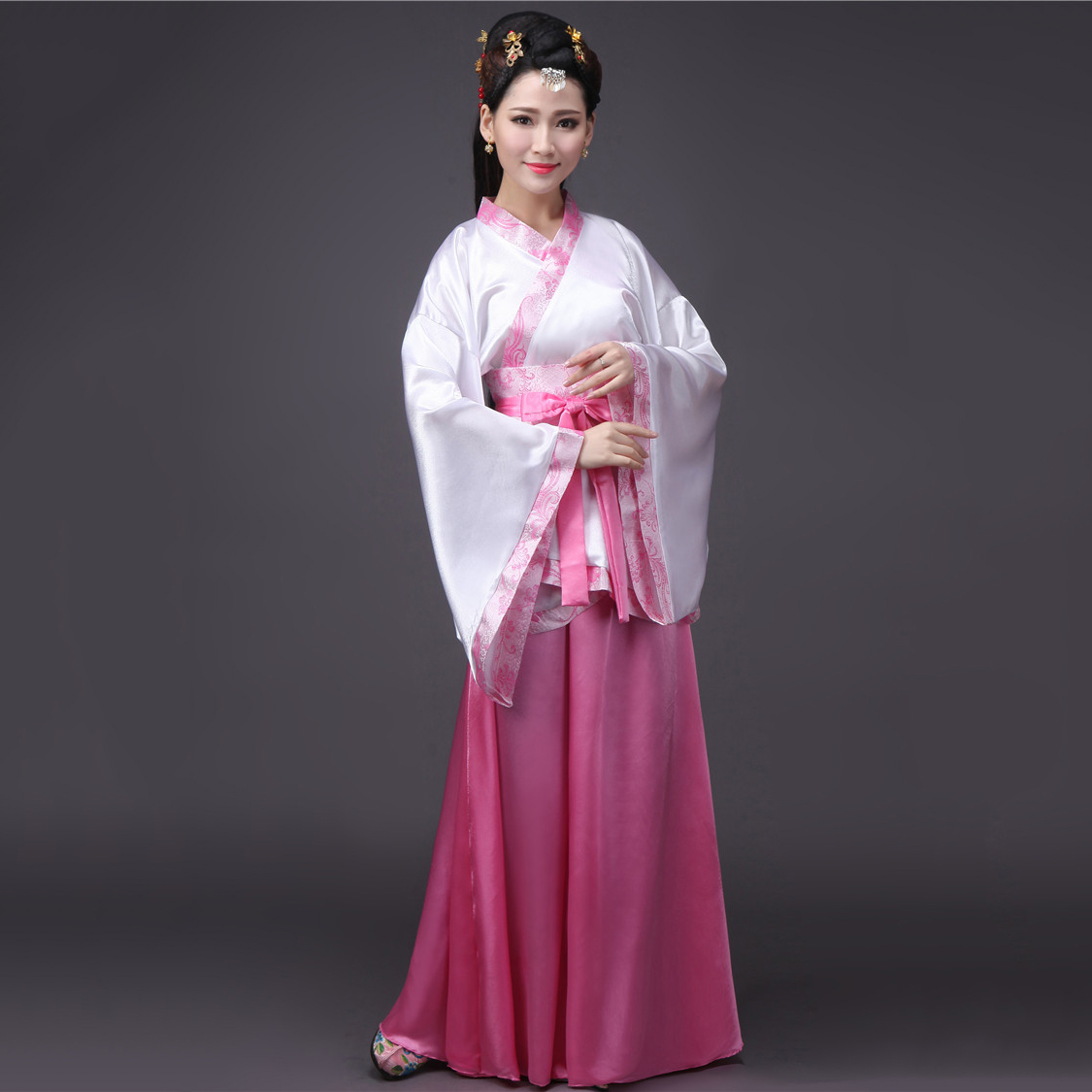 Women's Dress For Oriental Dancing Hanfu Female Traditional Chinese Clothing Purple Blue Red Pink White Hanfu Dance Dress