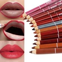 Hot Professional 12pcs Multi-functional Lipliner Pencil Long Lasting  Lip Liner Waterproof Lips Eye Brow Makeup Cosmetics