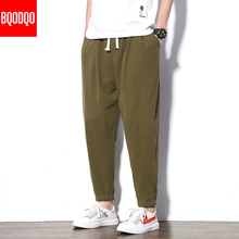 Casual Streetwear Pant Black Autumn Army Green Hip