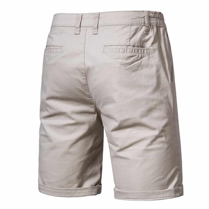 2020 nowe letnie 100% bawełniane jednolite spodenki męskie wysokiej jakości Casual Business Social w pasie męskie spodenki 10 kolorów szorty plażowe