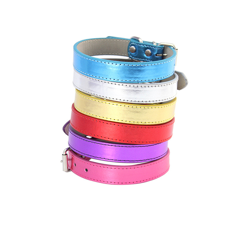 New Style A Generation Of Fat Bright Skin Pu Dog Chain Traction Belt Pet Traction Rope Dog Safety Belt Dog Neck Ring Puppy
