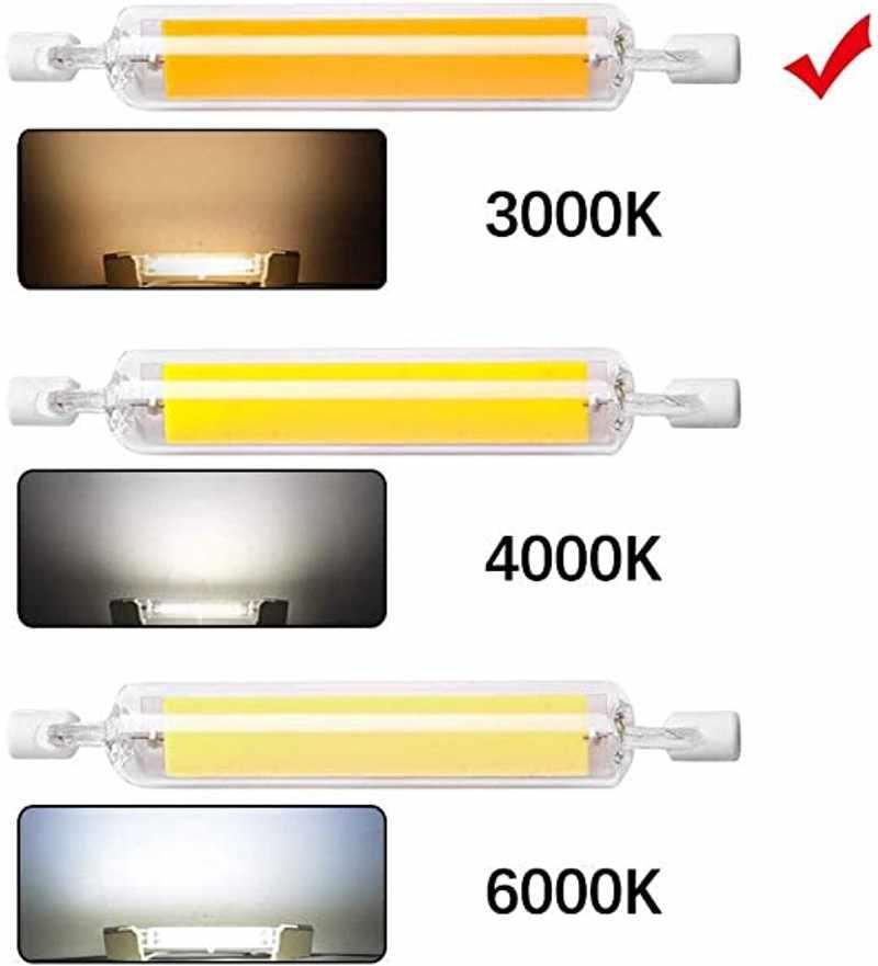 Baru LED R7S COB Tabung Kaca Bohlam 78MM 25W 118MM 50W R7S Lampu Jagung J78 J118 mengganti Lampu Halogen 100W 150W AC 220V 110V Lampadas
