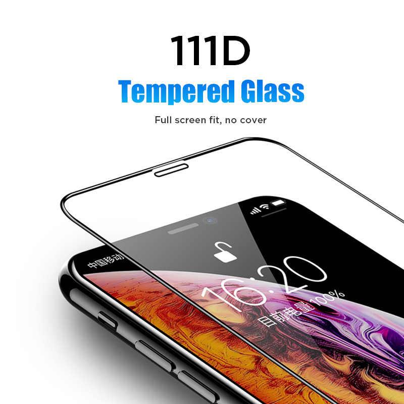 111D زجاج حماية ل 7 8 6 6S زائد 5 5s SE الزجاج المقسى ل آيفون 11 برو X Xr Xs ماكس سلامة فيلم حامي الشاشة