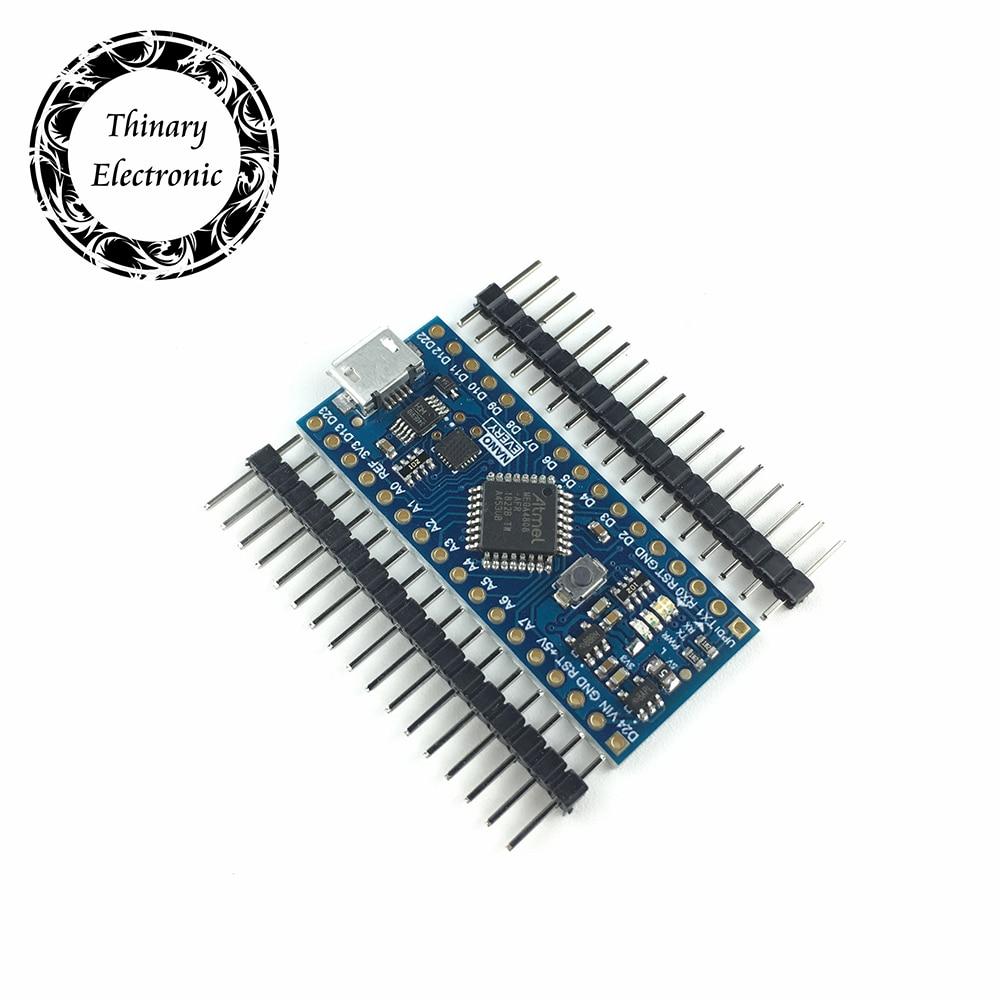 Новое поступление, тонкий нано-контроллер, совместимый с Arduino Nano each Atmega4808, обновленный Atmega328 CH340 UPDI, загрузчик