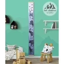 Holz Kinder Höhe Herrscher Wand Hängen Cartoon Muster Höhe Messen Lineal Für Kinder Wachstum Chart Tisch Home Wand Aufkleber