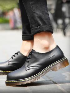 CINESSD Heels Boots Shoes Men Casual-Shoes Doc-Cowhide Wedding Black Waterproof Luxury