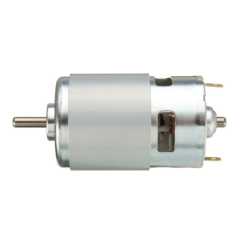 775 Motor DC 12V 24V 80W 150W 288W DC Motor Large Torque High Power DC Motor Double Ball Bearing Spindle Motor