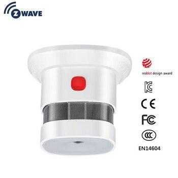 مستشعر الدخان Zwave المنزل الذكي النسخة الأوروبية 868.42mhz Z-wave كاشف الدخان بطارية تعمل بالطاقة