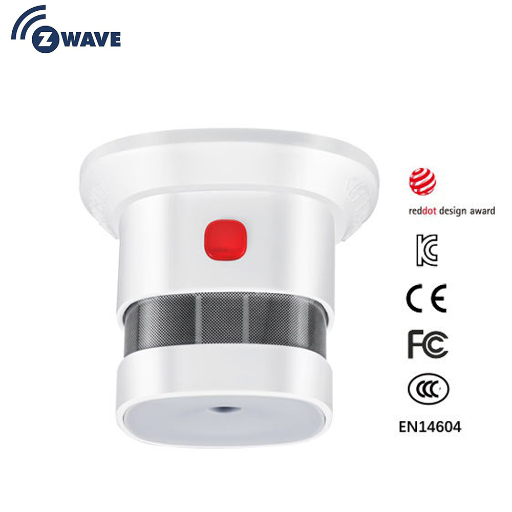 Zwave Smoke Sensor Smart Home EU Version 868.42mhz Z-wave Smoke Detector Power Battery Operated
