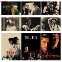 Classic movie seven sin poster evil spirit knight kraft paper vintage
