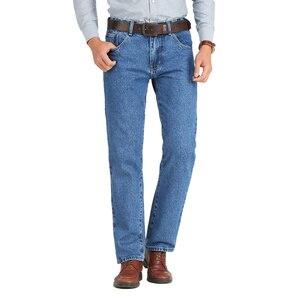 Image 2 - Męski biznesowy do jeansów klasyczne, na wiosnę jesienne męskie spodnie Skinny Straight Stretch marki spodnie dżinsowe kombinezony na lato szczupłe spodnie do fitnessu 2019