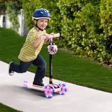 Scooter Folding 3-Wheels Bike Kids Child for Sport-Toy Height-Skateboard Led-Shine-Balance