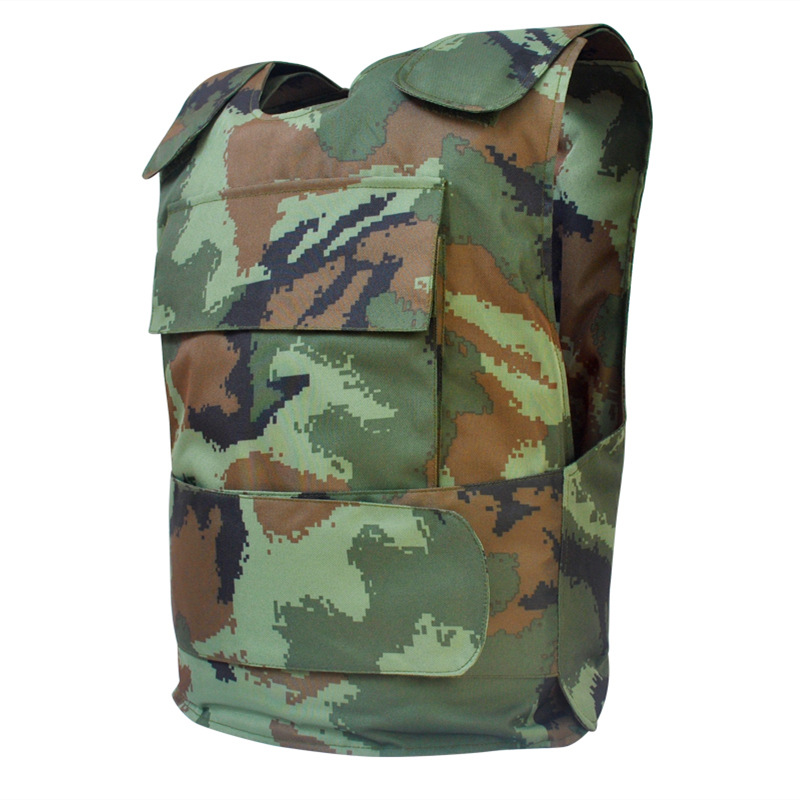Camouflage Protective Vest Security Guard On Duty Anti Chop Stab Resistant Self Defense Safety High Quality Adjustable Vest