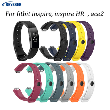 100pcs Strap For Fitbit Inspire HR For ace2 Band Replacement Silicone Bracelet for Fitbit Inspire Smartwatch Replacement