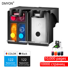 DMYON 122XL Refill Ink Cartridge Replacement for HP 122 Deskjet 1000 1050 2000 2050 2510 3000 3054 4500 4630 4632 5530 Printer(China)