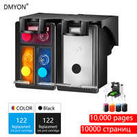 DMYON 122XL wkład tuszu wkład zamiennik dla hp 122 Deskjet 1000 1050 2000 2050 2510 3000 3054 4500 4630 4632 5530 drukarki