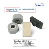Rodillo de rueda de prensado y almohadilla de cadena transportadora, para máquina de anillado de bordes automático SCM y Yuetong, 10 unids/lote FLK011