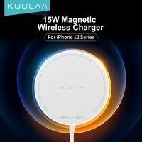 KUULAA 마그네틱 무선 충전 아이폰 12 프로 최대 미니 15W 빠른 충전기 아이폰 무선 충전기 화웨이 Xiaomi 제나라