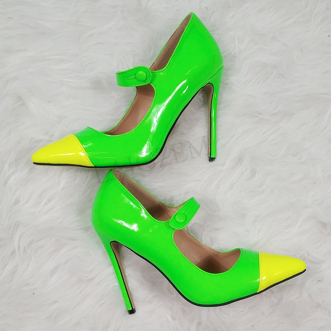 LAIGZEM Color Blocking Vrouwen Hakken Mary Jane 2020 Stiletto Party Dress OL Prom Trouwschoenen Zapatos Mujer Grote Maat 34 47-in Damespumps van Schoenen op  Groep 1