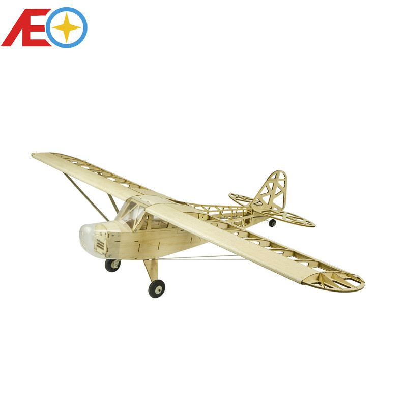 2019 New Piper J3 Cub 1200mm Wingspan Balsa Wood Airplane Models RC Building Toys Woodiness model