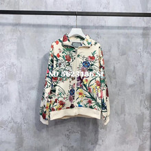 Casual women coats and jackets fashion flower mouse print woman top coat female