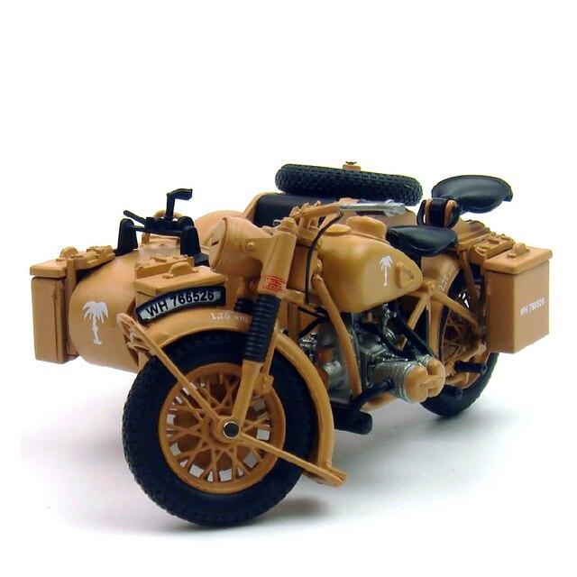 Diecast 1:24  German R75 Tricycle Model World War II Military Models Alloy Motorcycle Sidecar Motorcycle Motorbike Miniature