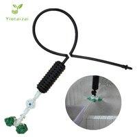 10 Uds verde nebulizador Cruz de nebulización de colgando ensamblaje de aspersor colgante para enfriamiento para jardín de riego
