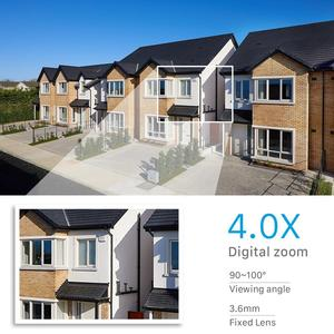 Image 5 - 1080P Hd 4X Zoom Ptz Ip Camera Wifi Outdoor Ai Detection Alert 3MP Cctv Camera Kleur Ir Licht Audio security Surveillance Camera