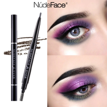 Women eyebrow pencil light brown beauty slim cosmetics make up Natural Long Lasting Waterproof Paint Tattoo Eyebrow Pencil brush
