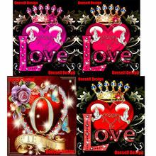 2019top popular 5d diamond embroidery full set love 5d diamond painting full square/round love picture of rhinestones decor home